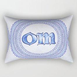 Blue Om Rectangular Pillow