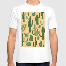 The Snake, The Cactus and The Desert Mens Fitted Tee MEDIUM White