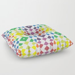 Rainbow Diamond Drops Floor Pillow