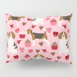 Beagle valentines day dog breed pet portrait dog lovers perfect gift i love you pet portrait Pillow Sham