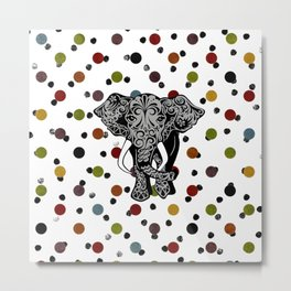 Elephant Polka dot  Metal Print