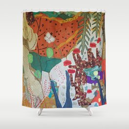 Llama and butterfly Shower Curtain