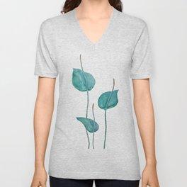 Adder's tongue fern painting Unisex V-Neck