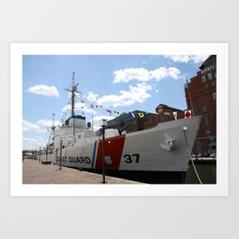 Coast Guard 37 Baltimore Harbor Art Print