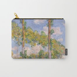1891-Claude Monet- Poplars in the Sun-73 x 93 Carry-All Pouch