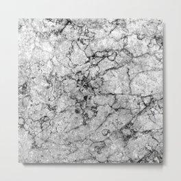 Ashen Marble Metal Print