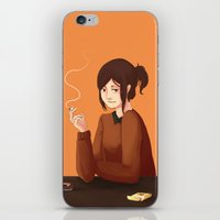cigarette iPhone & iPod Skins featuring Cigarette by Lycheenesis