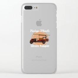 Vintage Wheels: Citroën Pompier Clear iPhone Case