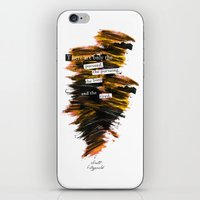 """fitzgerald iPhone & iPod Skins featuring """"There are only the pursued, the pursuing, the busy and the tired."""" F. Scott Fitzgerald quote by Bookish Designs"""