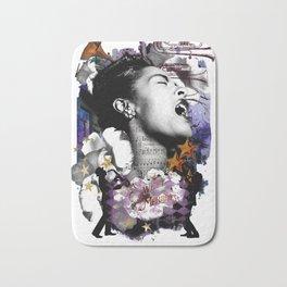 Billie Holiday Art Jazz Singer Powerful Women African American Women Music Art Bath Mat