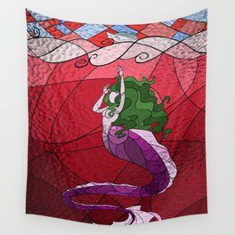 Primeval Mermaid (red) Wall Tapestry