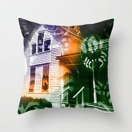 Haunted Landscape Throw Pillow