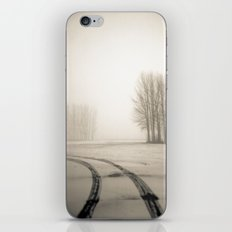 Tyre tracks in snow iPhone & iPod Skin