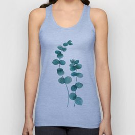green eucalyptus watercolor Unisex Tank Top