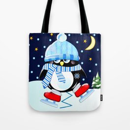 The skating penguin Tote Bag