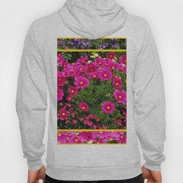 DECORATIVE FUCHSIA PINK COSMOS GARDEN FLOWERS Hoody