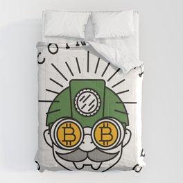 Bitcoin Mining Conference (Gnome Miner Icon) Comforters
