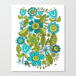 Botanical Doodles Canvas Print