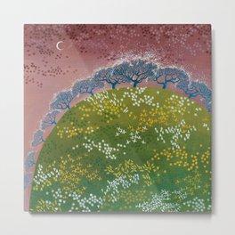 fairy garden,original oil painting, green planet Metal Print