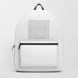 The Wisdom of Buddha Backpack