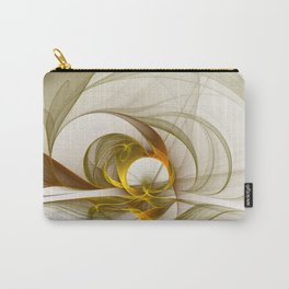 Fractal Art Precious Metals, Abstract Graphic Carry-All Pouch