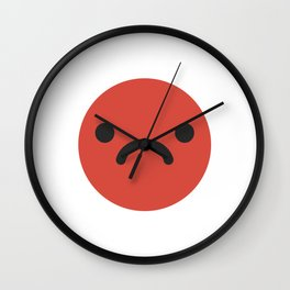 Grumpy emoticon Wall Clock