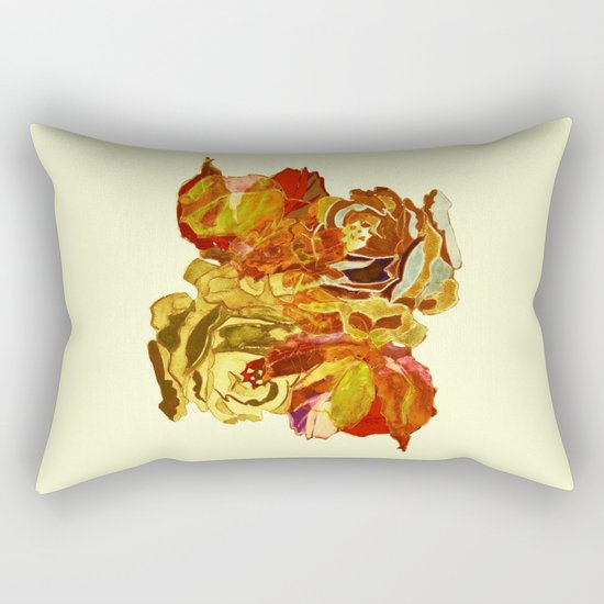 roses meli melo Rectangular Pillow