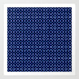 Blue Lattice Art Print