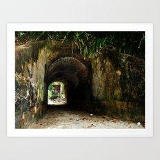 Old tunnel 2 Art Print