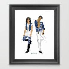 Fashion Journal: Day 17 Framed Art Print