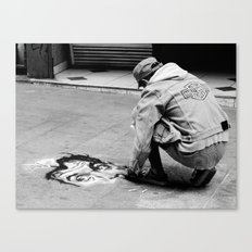 Street Art in B&W Canvas Print