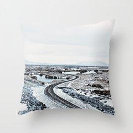 Near Myvatn Throw Pillow