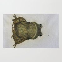 frog Area & Throw Rugs featuring frog by Diane Nicholson