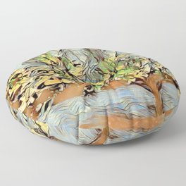 Mom's Bradford Pear Tree Floor Pillow