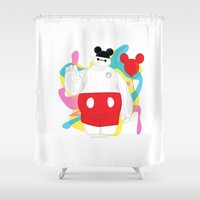 baymax Shower Curtains featuring Baymax by Eric Wirjanata