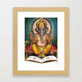 Lord Ganesha Hindu Oriental Art Spiritual Buddhism Yoga Framed Art Print