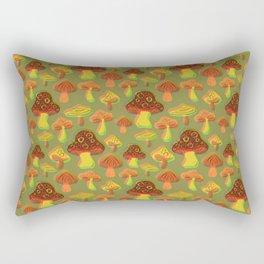 Mushroom Print in 3D Rectangular Pillow