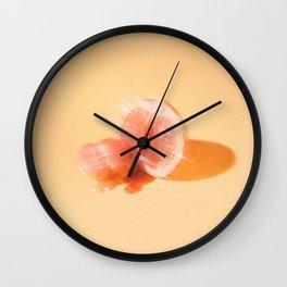 Glitter Dessert: Grapefruit Wall Clock