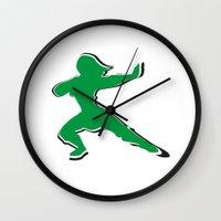 mulan Wall Clocks featuring Mulan by husavendaczek