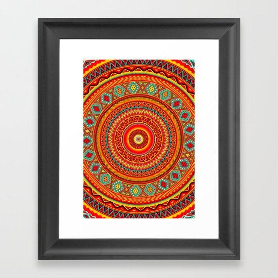 Mandala Aztec Pattern Framed Art Print