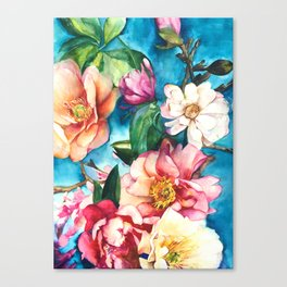 Tropical Floral I Canvas Print