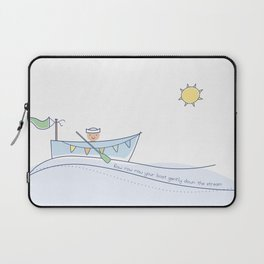 Row row row your boat gently down the stream Laptop Sleeve
