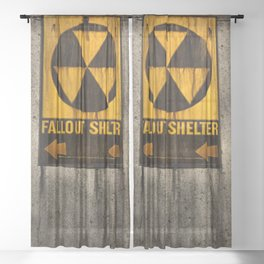 Fallout Shelter Sheer Curtain