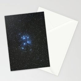 Peiades star cluster and a Orionid Meteor Stationery Cards