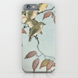 Birds on a branch (1900 - 1936) by Ohara Koson (1877-1945) iPhone Case