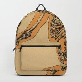 Vintage Human Skeleton Illustration (1887) Backpack
