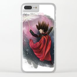 Fairy of dandelions Clear iPhone Case