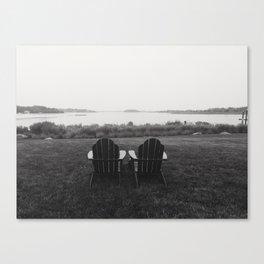 Pair of Chairs in Weekapaugh Rhode Island Canvas Print