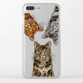 Triple Tabbies Clear iPhone Case