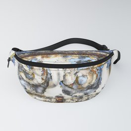 Contemporary Metal Rusty Circus Trailer Fanny Pack